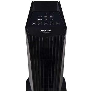 アピックス スタイルタワーファン タワー型扇風機 リモコン付 ブラック AFT-636R-BK