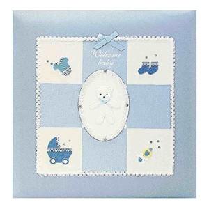 【送料無料】フエルアルバム Digio Lサイズ ブルー ウエルカムベビーシリーズ ナカバヤシ アH-LB-501-B ビス式