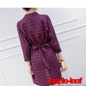 タイトシルエットカシュクールシャツワンピース 七分袖 リボン ドレス,お呼ばれ,通勤,クリスマス,パーティ,二次会,結婚式