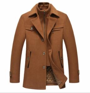 人気新品 メンズウールコート 素敵 カジュアルラシャコート 厚手 トレンチコート BL-1702 4色選