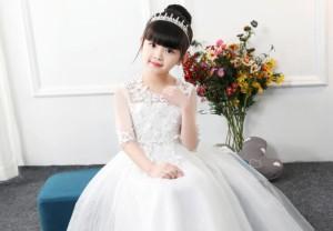 f097930a5150d 2018新作 子供ドレス 半袖 ロングワンピース 子供服 チュール 入園式 卒業式 パーティー 結婚式 入学式 女の子 きれいめ 可愛い