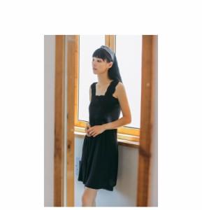 98d1d54a723f8f 無地 パジャマ レディース ワンピース風 パジャマ キャミ 女性用 可愛い 寝巻き 黒 柔らかい 夏 部屋着 ルームウェア