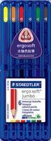 ステッドラー エルゴソフト ジャンボ 色鉛筆 6色セット 158 SB6