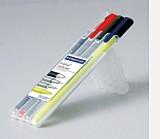ステッドラー トリプラス マルチセット<油性黒・水性赤・シャープ・蛍光> 34-SB4-S3