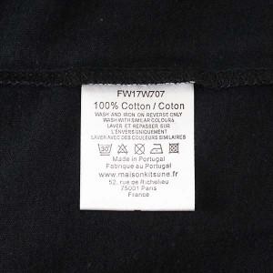 メゾンキツネ レディース Tシャツ MAISON KITSUNE  FW17W707-BK TEE-SHIRT HANDWRITING  BLACK  100% COTTON サイズ:L 比較対象価格: