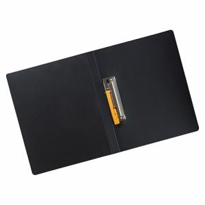 リヒトラブ  AQUA Window BLACK STYLE パンチレスファイルワンタッチ<HEAVY DUTY>