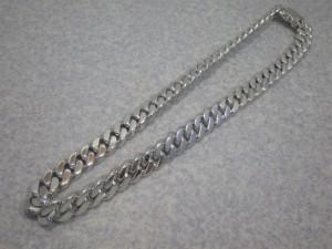 シルバー 925 喜平 ネックレス 極太 (4面カット・シングル) SKKN-04 392.5g着用時 61.5cm 新品 未使用品