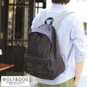 WOLF&DOG デニム×迷彩柄 デイパック WOLF&DOG デニム×迷彩柄 デイパック メンズ 日本製