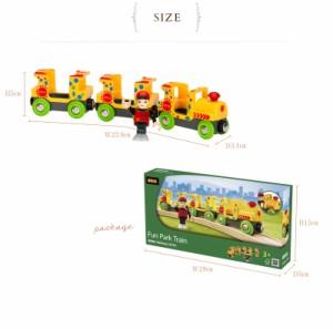 BRIO WORLD(ブリオ) ファンパークトレイン  33741 BRIO railway toy wood toy 木のおも