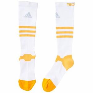 (アディダス)adidas techfitハイソックスG ITW41 S03325 ホワイト/ソーラーゴールド 27-29