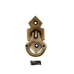 【真鍮取っ手】アンティーク仕上げのぶらり取っ手  F005 【ネコポス発送可】