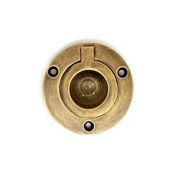 【真鍮取っ手】アンティーク仕上げの埋め込み取っ手 H027【ネコポス発送可】