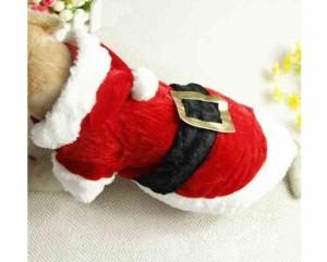 【即納】 大注目  ドッグ ウェア  サンタクロース  可愛い 衣装 コスプレ クリスマス 犬  猫 変身 グッツ サンタ  送料無料