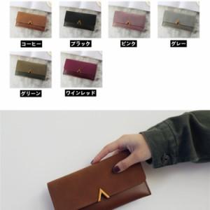 7f85eebfe5a9 長財布 レディース 使いやすい 軽い 大人可愛 オシャレ スマホ収納 軽量 PU革 薄い 小銭入れ カード シンプル かわいい 長財布 30000013