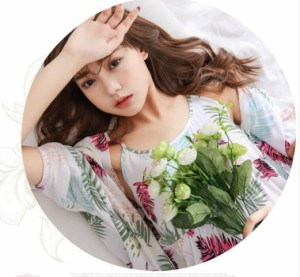 3点セットレディース パジャマ  パジャマ ルームウェア 女性 大人 キャミソール ネグリジェ 寝巻き 上下セット 部屋着 花柄 ガウン
