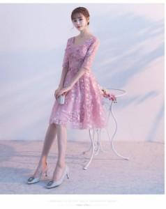ロングドレス 演奏会パーティードレス 結婚式ドレス ロング丈 オフショルダー 花柄 ピアノ 発表会フォーマル 上品