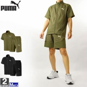 セットアップ プーマ PUMA メンズ 582957 582965 エヴォ ストライプ ライト 半袖 上下セット 2106 半袖シャツ