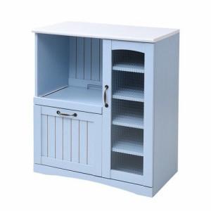 食器棚 レンジ台 幅75 一人暮らし ロータイプ 作業台 引き出し おしゃれ 北欧 安い キッチン 収納 棚 ラック コンパクト 小さい 小型 ミ