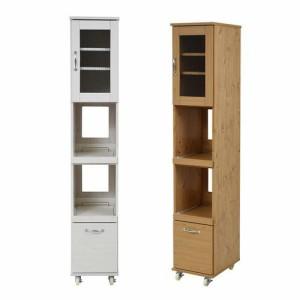 食器棚 幅33 スリム 細い 薄型 隙間 すきま 収納 ラック 家具 一人暮らし 引き出し おしゃれ 北欧 安い キッチン 棚 ハイタイプ キャスタ