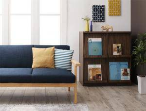 ソファー ソファ 2人掛け 二人掛け 2人用 おしゃれ 安い 北欧 + フラップチェスト 本棚 扉付き ディスプレイラック 一人暮らし 家具 セッ