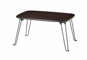 折りたたみ 折れ脚 ローテーブル ブラウン 茶色 ( 折りたたみテーブル リビングテーブル ちゃぶ台 センターテーブル 座卓 )