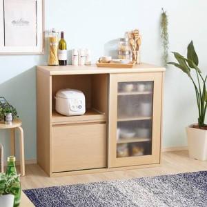 食器棚 おしゃれ 北欧 安い キッチン 収納 棚 ラック 木製 レンジ台 ロータイプ コンパクト ミニ 調味料 小型 小さいサイズ 一人暮らし
