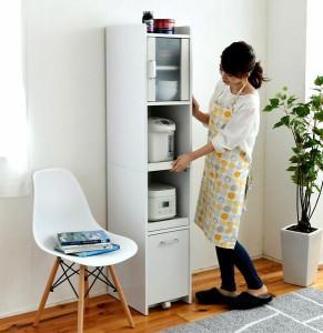 食器棚 スリム 細い 薄型 隙間 すきま 収納 ラック 家具 一人暮らし おしゃれ 北欧 安い キッチン 棚 ミニ 炊飯器置き場 ポット コンパク