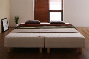 連結ベッド ワイド 2台 セット 2人 3人 4人 家族 つなげる 連結 分割 ファミリー 親子 脚付き マットレスベッド ボトムベッド 足付 ベン
