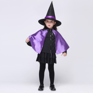 44a190d0d8696 巫女 ハロウィン 衣装 女の子 魔女 精霊 子供 コスチューム 2点セット クリスマス 仮装 童話 妖精 お姫様