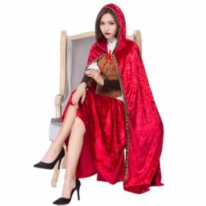 2961cd2d26c5a クリスマス 衣装 仮装 女性用 赤ずきん 魔女 マント レディース用 衣装 コスチューム ハロウィーン コスチューム コスプレ