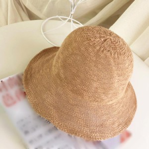 送料無料小顔効果 麦わら帽子 折りたたみ ストローハット ハット 帽子 UVカット 紫外線対策 日よけ 折りたたみ帽子 旅行 運