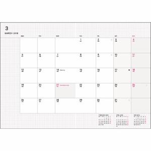 【2018年3月始まり】 デルフィーノ A5ブロック手帳 PLUG ホワイト COT-46111 月曜始まり