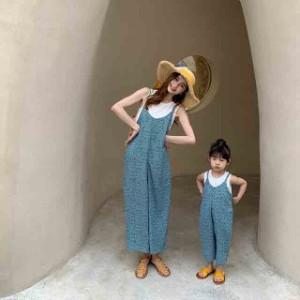 親子服 ワンピース 夏 親子お揃い服  女の子 ママ 子供服 キッズ  レディース 親子コーデ 家族旅行