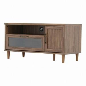 CERISE ポーリーテレビ台ローボード(幅90cm) ブラウン W90xD40xH46.5cm