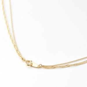 ネックレス レディース シンプル ゴールド 上品 華やか 華奢 ロング ダブル チェーン - ロングネックレス ゴールド 2連 -