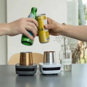 ビールクーラー ドリンククーラー 冷却 カップ 卓上 保冷 コップ クーラーカップ  ワンボタン操作 ミニ 小型 冷蔵庫 アルミ製 コンパクト