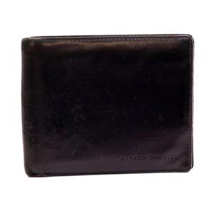 f9a4a2d3b8fe ダンヒル レザー 二つ折り財布 札入れ ブラック 中古 DUNHILL メンズ メール便送料無料