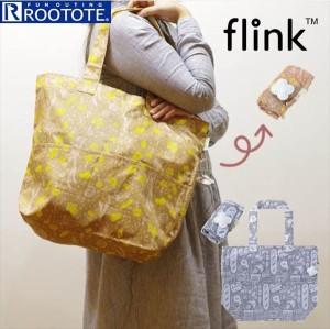 37052020999b Rootote ルートート トートバッグ 通販 サイドポケット FLINK フリンク エコバッグ 軽い コンパクト ショルダーバッグ 折りたたみ