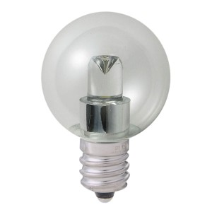 ELPA LED電球 ミニボール球形 0.5W E12 G30 (クリア電球色相当) LDG1CL-G-E12-G236