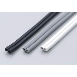 【メール便送料無料】ELPA 平形ビニールコード 一般配線用 2m 12A 1.25mm^2(0.18mm×50芯) ブラック VFF-2LH (BK)