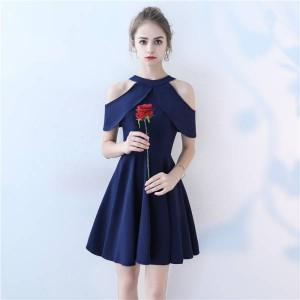 2018新作 レディース高級上質ドレスマーメイド黒色ショートドレス結婚式 二次会 披露宴 パーティードレス大きさサイズあり BL597
