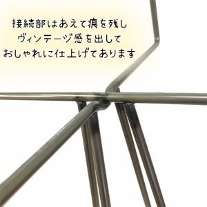 アイアン ポットスタンド ミドル12 No.322 industrial iron bar 日本製 高さ28cm 鉢置き 鉢台 プランタースタンド 鉢 スタンド