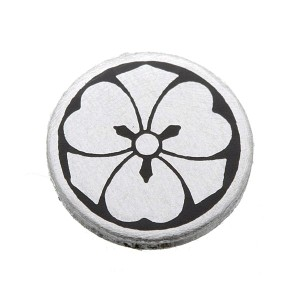 家紋つきメガネホルダー 【貝パール】丸に剣片喰 送料込!