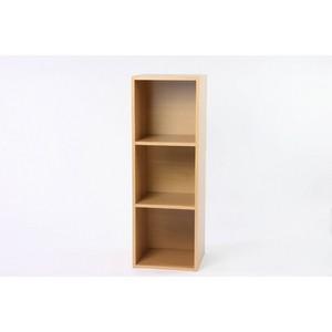 レコードラック(LP収納用ラック)/バイナルボックス 木製 3段 VL-3 木目調