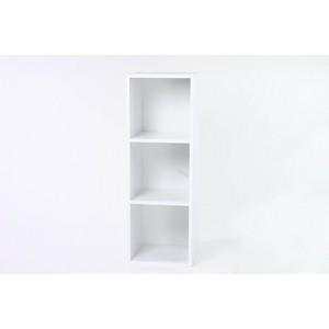 レコードラック(LP収納用ラック)/バイナルボックス 木製 3段 VL-3 ホワイト(白)