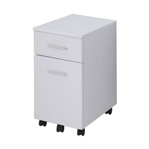 あずま工芸 サイドチェスト 幅33.5×高さ60cm ホワイト EDS-1601 送料無料!