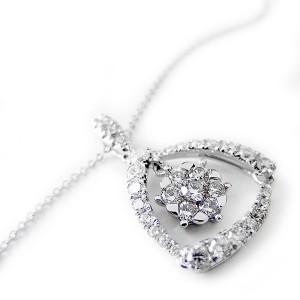 ダイヤモンド ネックレス K18 ホワイトゴールド 0.75ct 7ダイヤ コロネットセッティング Hカラー SIクラス 0.75カラット ゴージャス ペ