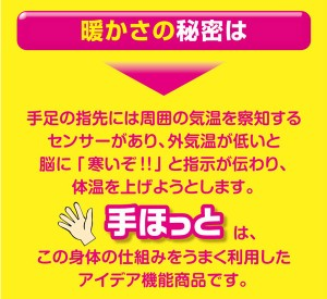 NEW手ほっと(ハンドウォーマー) 【フリーサイズ/ロングタイプ】 日本製 (防寒用具)