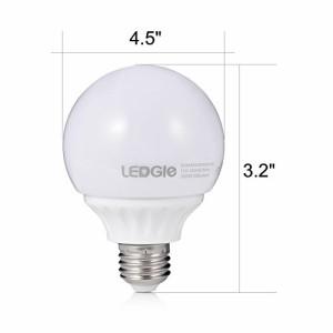 LEDGLE LED電球 E26口金 白色 密閉形器具対応 5W 白熱電球50W形相当 省エネ 500ルーメン 広配光タイプ 2