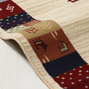 ベルギー製 ギャッベ風ウィルトン織玄関マット 動物柄 60×90cm 6121005084099